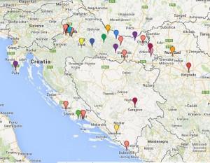 karta hrvatske s grupama